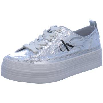 Calvin Klein Plateau Sneaker grau