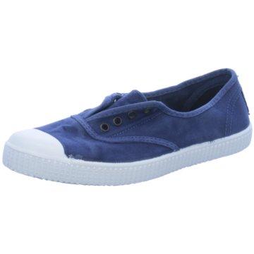 Natural World Eco Sportlicher Slipper blau