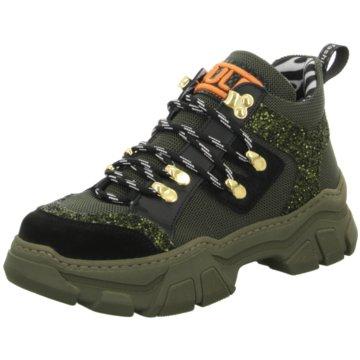 Meline Plateau Sneaker oliv