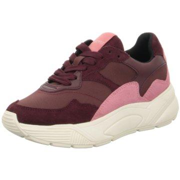 Esprit Plateau Sneaker rot