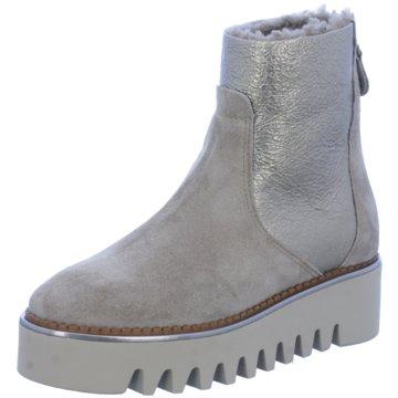 Alpe Woman Shoes Plateau Stiefelette beige
