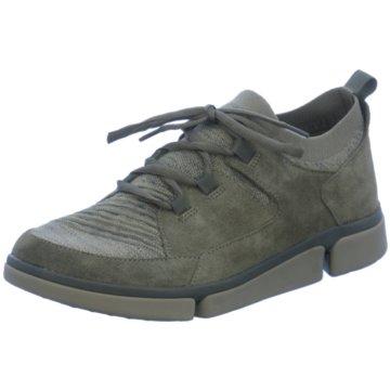 Clarks Komfort Schnürschuh grün