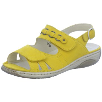 Waldläufer Komfort Sandale gelb