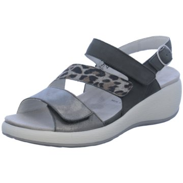 Waldläufer Komfort Sandale grau
