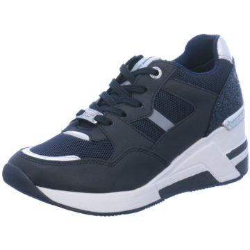 Tom Tailor Sneaker Wedges blau