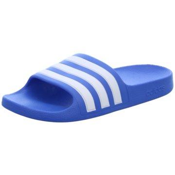adidas PantoletteADILETTE AQUA K blau