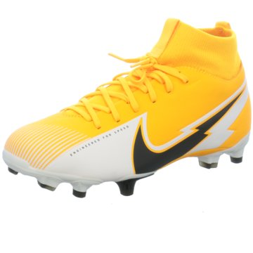 Nike Nocken-SohleNike Jr. Mercurial Superfly 7 Academy MG Kids' Multi-Ground Soccer Cleat - AT8120-801 gelb