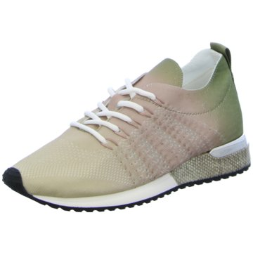 La Strada Sneaker LowLaced up knitted oliv
