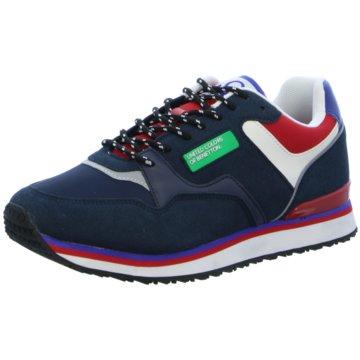 Benetton Sneaker Low blau