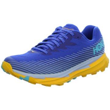 Hoka Trailrunning blau