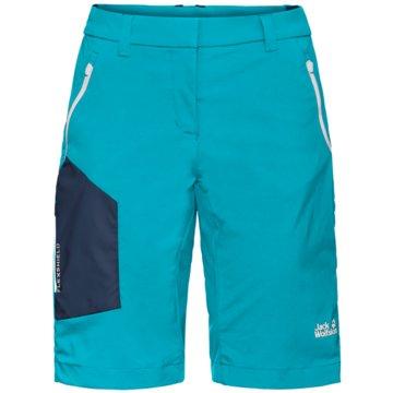 JACK WOLFSKIN kurze SporthosenOVERLAND SHORTS W - 1506161 blau