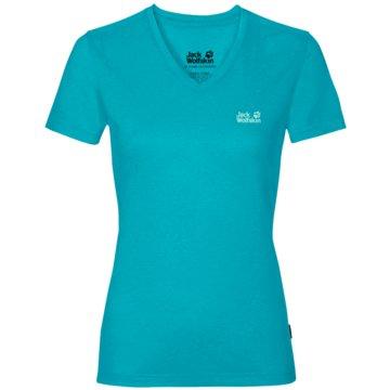 JACK WOLFSKIN T-ShirtsCROSSTRAIL T WOMEN - 1801692 blau