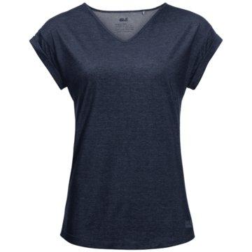 JACK WOLFSKIN T-ShirtsCORAL COAST T W - 1806381 blau