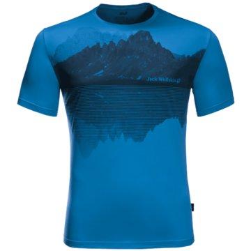 JACK WOLFSKIN T-ShirtsPEAK GRAPHIC T M - 1807181 blau