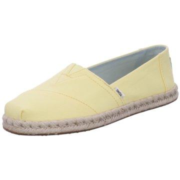 TOMS Top Trends Slipper gelb
