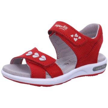 Superfit Offene Schuhe rot