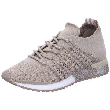 La Strada Sportlicher SchnürschuhKnitted Sneaker beige