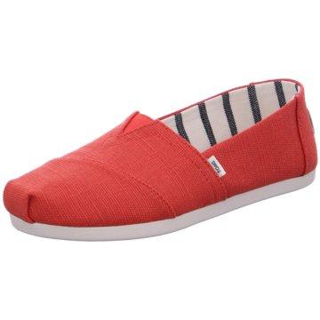 TOMS Klassischer Slipper rot