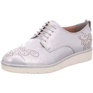 Tamaris Klassischer SchnürschuhSneaker silber