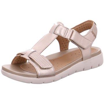 Clarks Komfort Sandale silber
