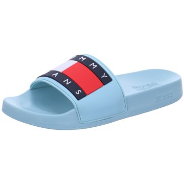 Tommy Hilfiger Pool Slides türkis