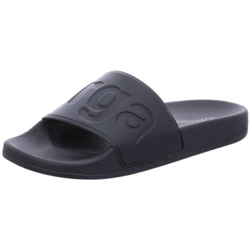 Superga Pool Slides schwarz