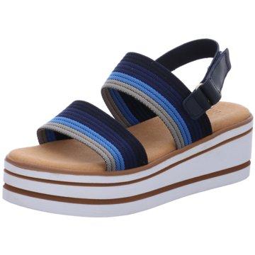 Esprit Plateau Sandalette blau