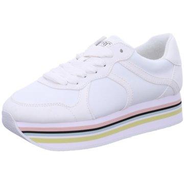 Esprit Plateau Sneaker weiß
