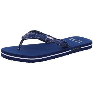 Esprit Bade-Zehentrenner blau