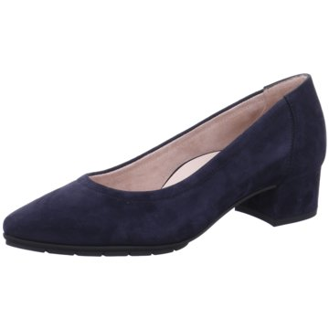 Paul Green Flacher Pumps blau