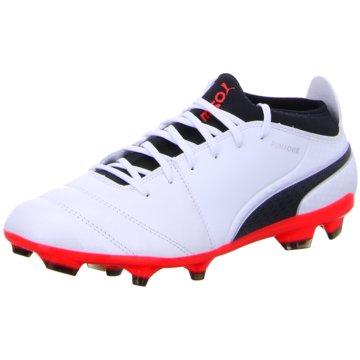 Puma Nocken-SohleONE 17.3 FG Herren Fußballschuhe Nocken weiß coral weiß