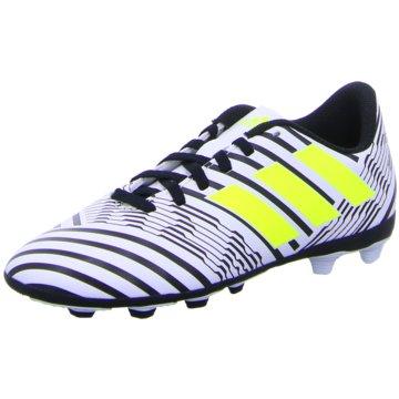 adidas FußballschuhNemeziz 17.4 FG Kinder Fußballschuhe Nocken weiß gelb schwarz grau