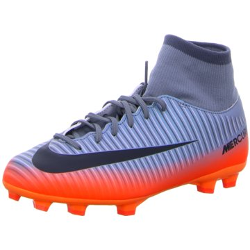 Nike FußballschuhMercurial Victory VI CR7 Dynamic Fit FG Kinder Fußballschuhe Nocken hellblau grau