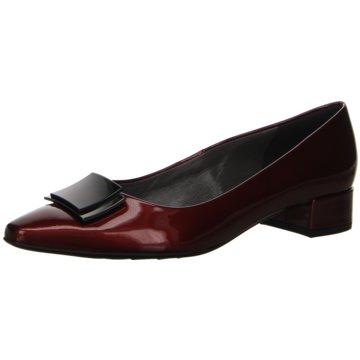 Peter Kaiser Flacher Pumps rot