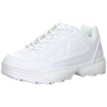 Kappa Plateau Sneaker weiß