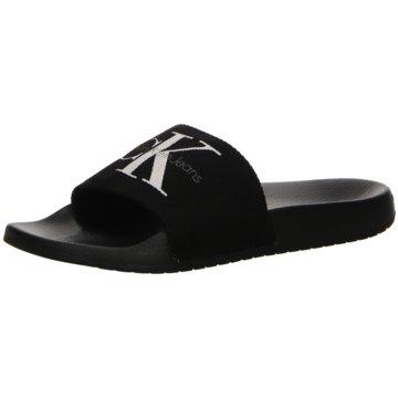 Calvin Klein Pool Slides schwarz