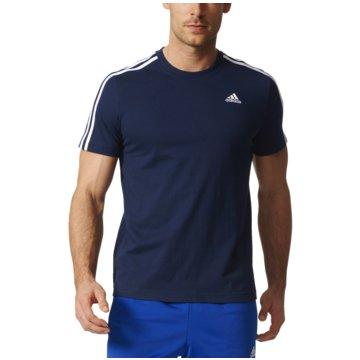 adidas T-ShirtsEssentials 3 Stripes Tee Herren T-Shirt blau blau