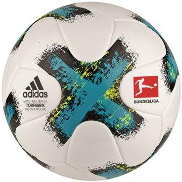 adidas FußbälleTorfabrik Junior 290 Fussball Lightball weiß blau -