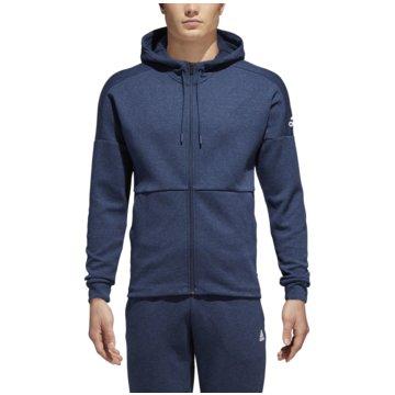 adidas HoodiesID Stadium Full-Zip Hood blau
