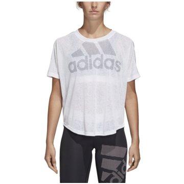 adidas Funktionsshirts weiß