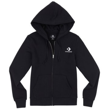 Converse HoodiesStar Chevron Embroidered Full Zip Hoodie schwarz