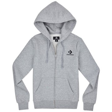 Converse HoodiesStar Chevron Embroidered Full Zip Hoodie grau