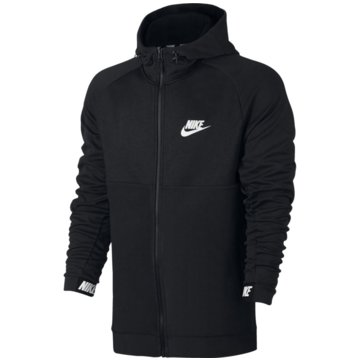 Nike FleecejackenSportswear Advance 15 Hoodie Fleece Full Zip schwarz