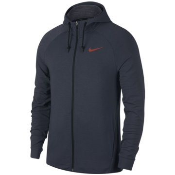 Nike FleecejackenDri-Fit Training Hoodie grau