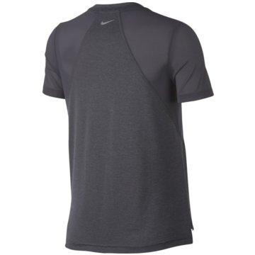 Nike FunktionsshirtsMiler Short-Sleeve Running Top grau