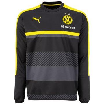 Puma Teamwear & TrikotsätzeBorussia Dortmund Training Sweat Kinder BVB schwarz gelb schwarz