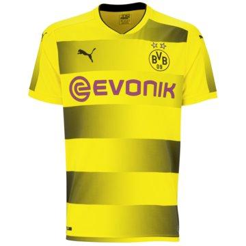 Puma Fan-TrikotsBorussia Dortmund Heimtrikot Herren BVB Home 2017/18 gelb schwarz -