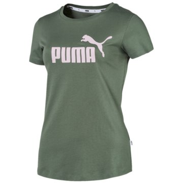 Puma T-ShirtsEssentials Logo Tee Women grün