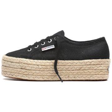 Superga Plateau Sneaker2790 Cotropew W Sneaker Damen Schuhe schwarz schwarz