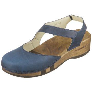 Woody Komfort Sandale blau